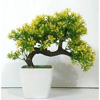 green plant indoor artificial bonsai tree