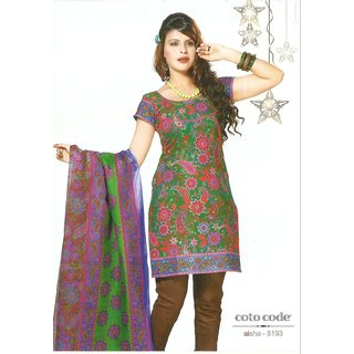 JEVI PRINTS Printed Cotton Unstitched Salwar Kameez with Cotton Printed Dupatta