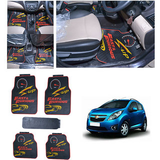 TAKECARE FAST & FURIOUS CAR RUBBER FLOOR  MAT  FOR HYUNDAI GRAND I-10
