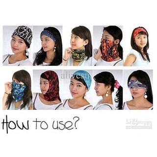 Buff 12 in 1 Multifunctional Headwear Bandana - Sun/Dust Protective Mask CODEmk-4573