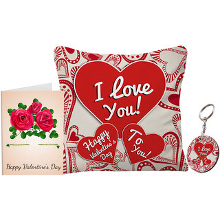 Buy Sky Trends I Love You Happy Valentine Day Gift Printed Cushion