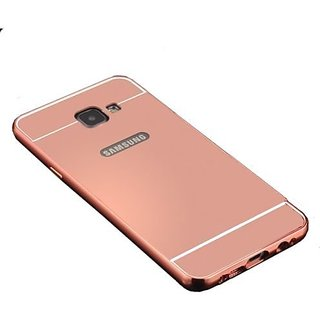 feomy aluminum metal bumper detachable mirror hard back case for samsung galaxy j7 prime rose. Black Bedroom Furniture Sets. Home Design Ideas