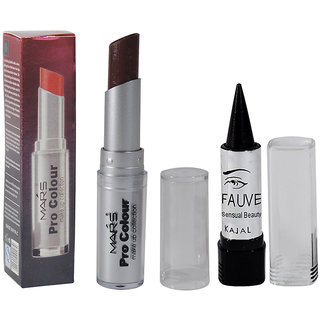Mars Pro Brwon Colour Lipstick Pack of 1 And Free Kajal-O