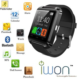 ONS INDIA U8 BLUETOOTH SMARTWATCH WITH BT CAMERA BT MUSIC COMPATIBLE WITH ALL SMARTPHONE