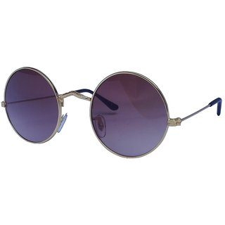 Derry Blue Round Uv Protection Sungalss For Men -Derry0224