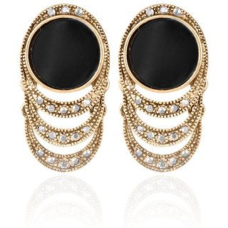 Diamond  Crystal Brass Dangle  Drop Earrings For Women