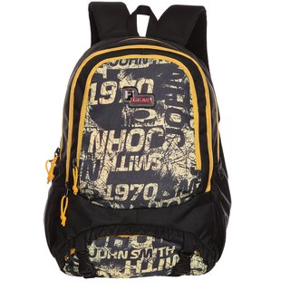 F Gear Black & Yellow Casual Backpacks Polyester Backpack
