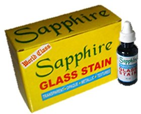 SAPPHIRE GLASS STAIN 40ML PACKING