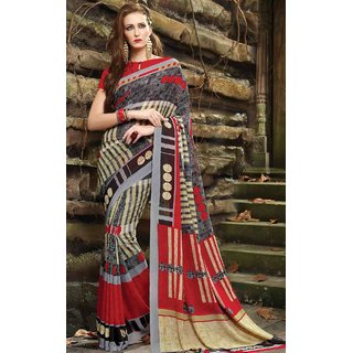 Sudarshan Silks Multicolor Cotton Plain Saree With Blouse