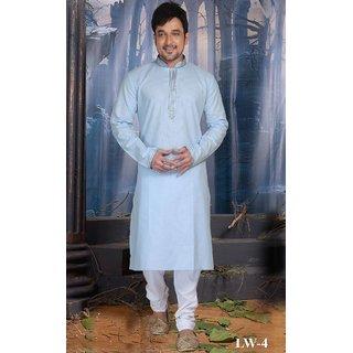 Sudarshan Silks Beige Cotton Plain Saree With Blouse