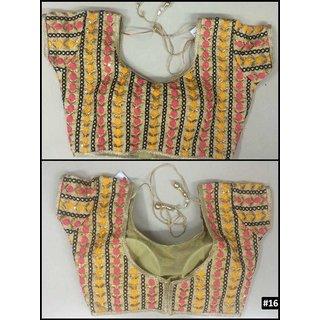 Sudarshan Silks Multicolor Chiffon Plain Saree With Blouse