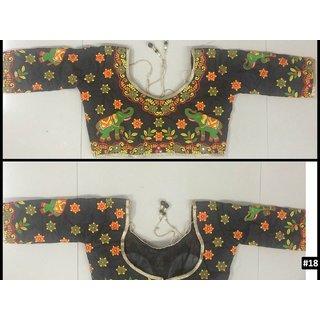 Sudarshan Silks Black Banarasi Silk Plain Saree With Blouse