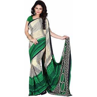 Sudarshan Silks Multicolor Raw Silk Plain Saree With Blouse