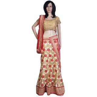 Sudarshan Silks Multicolor Net Plain Saree With Blouse