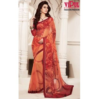 Sudarshan Silks Pink Crepe Plain Saree With Blouse