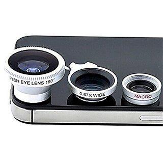 Cellphonez 3-in-1 Universal Camera Lens Kit for Smartphones - Fish Eye Lens / 2 in 1 Macro Lens Wide Angle Lens.