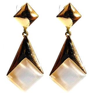 Femza GoldPlated Earrings WhiteStone Code30 Western