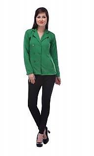 Lavennder Green Solid Woollen Blend Sweater for Women