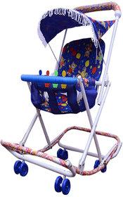 ABASR BABY KIDS MULTICOLOUR 3 IN 1 RASSI WALKER BLUE