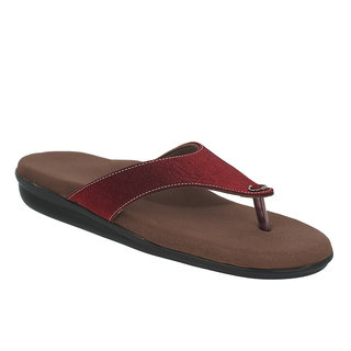 Dia One L.Cozy 03 Maroon Color Diabetic and Orthopedic Chappals for Women