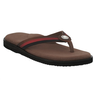 Dia One L.Cozy Multi Brown Color Diabetic and Orthopedic Chappals for Women
