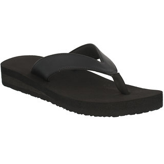 Dia One L.Cozy New Black Color Diabetic and Orthopedic Chappals for Women