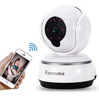 Eyamumo Video Baby Monitor WiFi HD 720P Security Camera with Night Vision 2 Way Audio Pan Tilt Zoom and Video Recording Function
