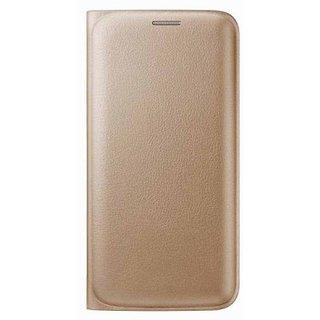 Vinnx Premium Leather Multifunctional Wallet Flip Cover Case For Lava Iris A59 - Golden