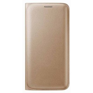 VinnxPremium Leather Complete Protection Flip Cover For Lyf Flame 5 - Golden
