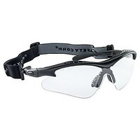 SAS Safety 5512-01 Vulcan Safety Glasses with Clear Lens, Black