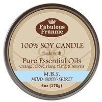 Mind Body Soul 100% Pure & Natural Soy Candle 6 Oz