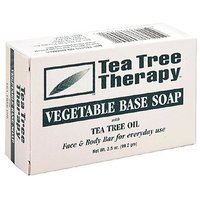 Tea Tree Therapy, Soap Bar, Vegetable Base, 3.5 Oz
