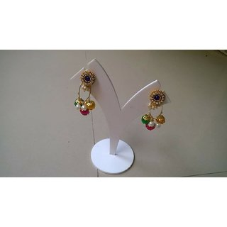 Silk Thread Jhumki Earrings for Women