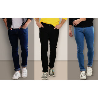 Stylox Men's Combo of 3 Slim Fit Jeans