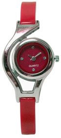 AUTHENTIC RED WOULD CUP ANALOG WATCH FOR GIRLS,WOMEN.