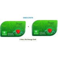 2 Nos. - Bio Energy Card Nano Card Of 2mm With Negative Ions ANTI-RADIATION BIO