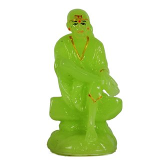 Sigaram Radium Sai Baba Idol - will shine in the dark as radium best suited for Office-Desk, Table Decor, Home and Shop - K441