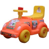 ABASR BABY KIDS ORANGE SMART CAR RIDE ON 4 WHEEL MULTICOLOUR