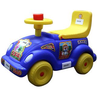 abasr baby kids blue smart car ride on 4 wheel multicolour