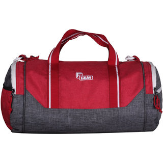 F Gear America 24 Liters Small Gym Duffel Bag(Grey Red)
