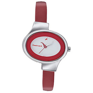 Fastrack Analog Silver Oval Watch -6015sl01