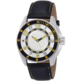 Fastrack Quartz White Dial Mens Watch-3089SL11
