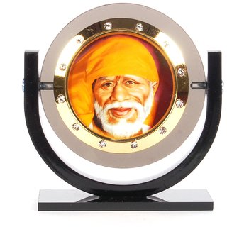 Sigaram Sai Baba Photo For Car Dashboard, Table or Ofice-Desk, Shops and Homes - K319