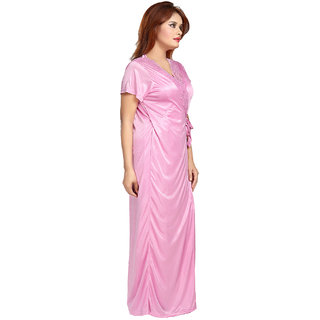 Buy Be You Fashion Women Satin Pink Lace 2 piece Nighty Set Online ... d1ad7632f