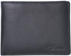 Tamanna Men Black Genuine Leather Wallet  (4 Card Slots)
