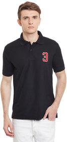 100Tees Men's Black Slim T-Shirt