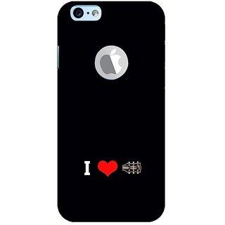 Fuson Designer Phone Back Case Cover Apple IPhone 6 (Logo View Window Case) ( Love The Strings )