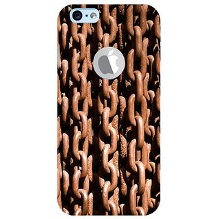 Fuson Designer Phone Back Case Cover Apple IPhone 6 (Logo View Window Case) ( Rusted Chains )