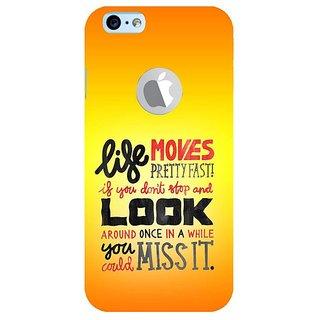 Fuson Designer Phone Back Case Cover Apple IPhone 6 (Logo View Window Case) ( Stop Wait Look Around Go )
