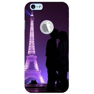 Fuson Designer Phone Back Case Cover Apple IPhone 6 (Logo View Window Case) ( Couple Kissing By Eiffel Tower )
